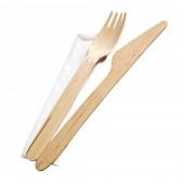 Besteckset 3er Messer Gabel / Serviette