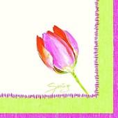 Duniline Serviette Pink Tulip