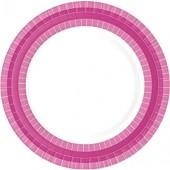 Premium Teller pink/weiss