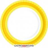 Premium Teller gelb/weiss