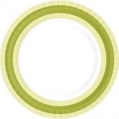 Premium Teller grün/weiss