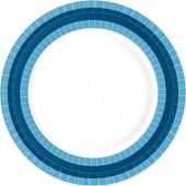 Premium Teller blau/weiss
