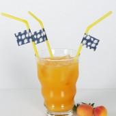 Trinkhalm mit Deko Fähnchen Margerite