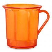Kaffeetasse 3dl mit Henkel, orange/transparent