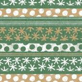 Mank Serviette BERIT, grün-goldbraun