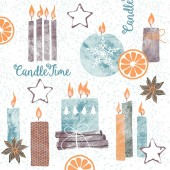 Mank Serviette CANDLE TIME