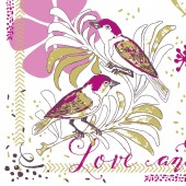 Mank Serviette LOVE & BIRDS